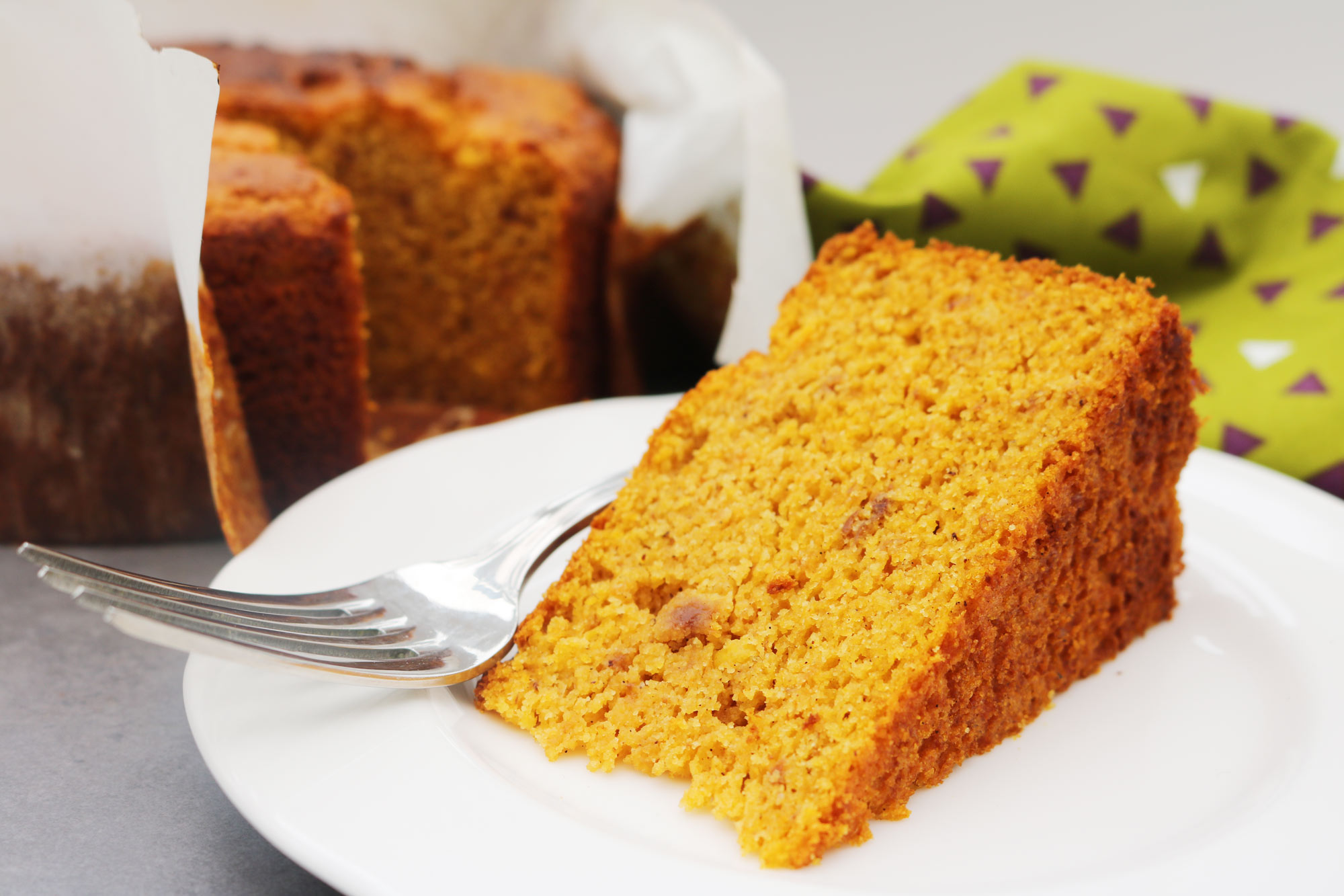 Apricot, Carrot and Polenta Cake